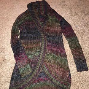 Rainbow cardigan sweater
